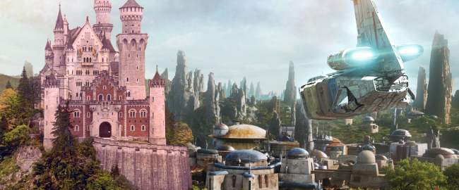 Galaxy's Edge, but in German. Photo courtesy Library of Congress and Disney.