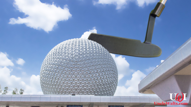 A giant putter descends from on high at Epcot. Photo via DepositPhotos. Possibly modified just a bit.
