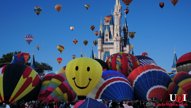 Chaos at the first (and last) ever Magic Kingdom Balloon Festival. Photo by ErikAggie [CC0] via Pixabay & adventurejay.com