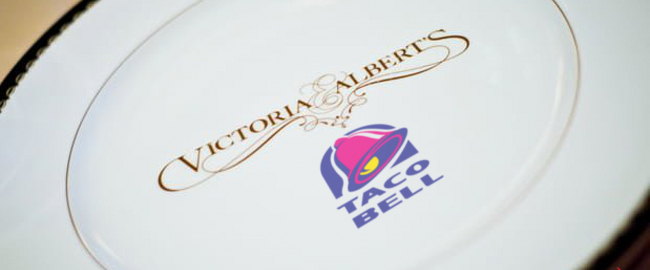 The all-new Victoria & Albert's / Taco Bell joint venture! Photo courtesy DisneyTouristBlog.com,modified.