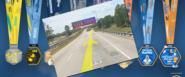 The new Disney/Google WDW Virtual Marathon! Photo © 2019 Disney & Google Street View.