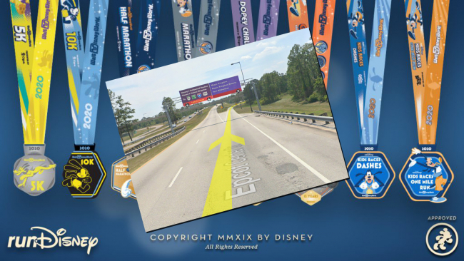 The new Disney/Google WDW Virtual Marathon! Photo © 2019 Disney & Google Street View.