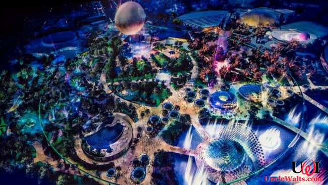 Epcot's Future World, after everything is put back. Photo courtesy Disney (the company).