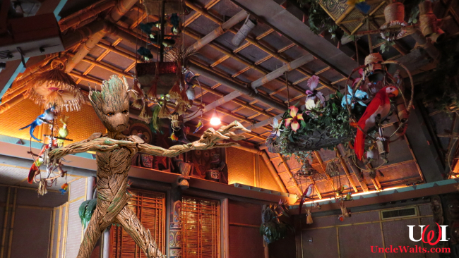 Groot joins the Enchanted Tiki Room. Photo by Ken Lund [CC BY-SA 2.0] via Flickr, modified.