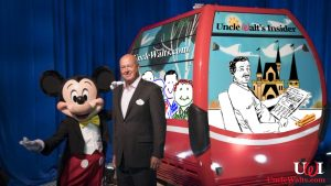 The new Uncle Walt's Insider gondola car, nicknamed