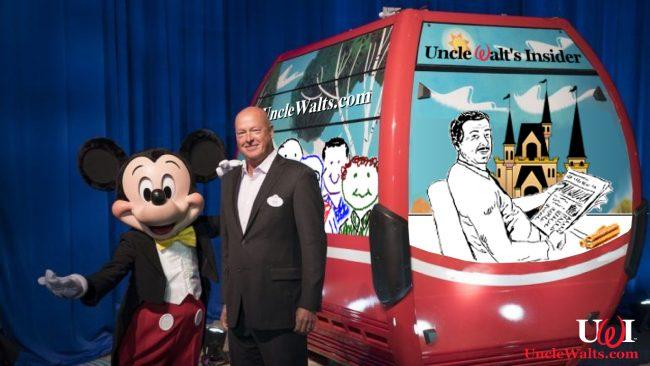 "The new Uncle Walt's Insider gondola car, nicknamed ""Churro One."" Photo courtesy Disney Parks."