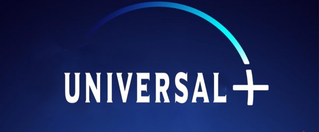 The totally clever and original logo for Universal+.