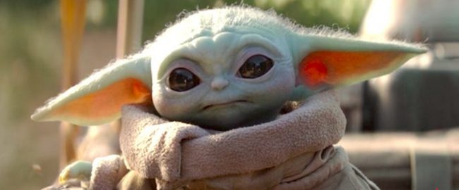 We find another reason to put Baby Yoda on our page. Photo © 2019 Disney.
