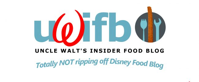 Disney, er, we mean, Uncle Walt's Insider Food Blog. Totally original logo not at all influenced by DisneyFoodBlog.com (which we love, btw!).