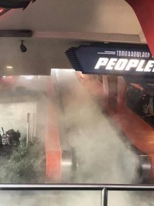 Pictured: Vaping on the Peoplemover. Source: Twitter.