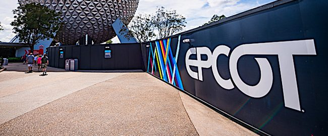 Just one of the many exciting construction walls this tour will cover! Photo by Disney Tourist Blog, used by permission.