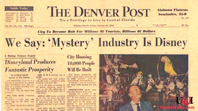 The actual headline from the Denver Post if this were real! Photo mostly from the Orlando Sentinel.