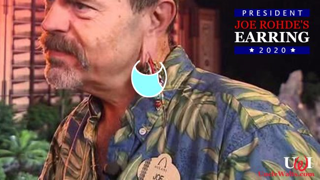 New official campaign photo of Joe Rohde's Earring, courtesy Joe Rohde's Earring for President 2020. Photo by alchetron.com [CC BY-SA 3.0].