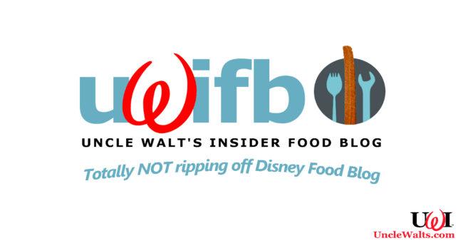 Disney, er, we mean, Uncle Walt's Insider Food Blog. Totally original logo not at all influenced by DisneyFoodBlog.com (which we love, btw!).
