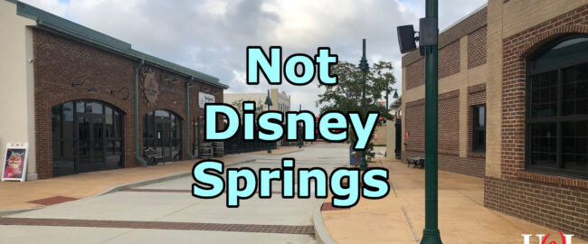 Downtown OWA in Foley, AL, which looks exactly like Disney Springs if you've been up for 48 hours. And squint. Photo by Walt, used without permission but with some snark.