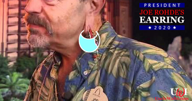 Former official campaign photo of Joe Rohde's Earring, courtesy Joe Rohde's Earring for President 2020. Photo by alchetron.com [CC BY-SA 3.0].