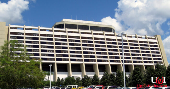 Disney's Contemporary Resort, minus half of its rooms. Photo by Jared [CC BY 2.0] via Flickr.