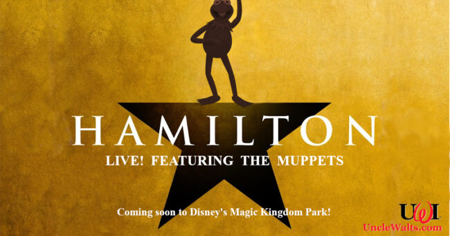"Poster for ""Hamilton Live! Featuring the Muppets."" Image © 2020 Disney (perhaps modified. A bit)."