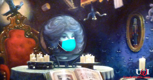 Madame Leota is pretty socially distanced inside a crystal ball. Is the mask really necessary? Photo by Cory Doctorow [CC BY-SA 2.0] via Flickr.