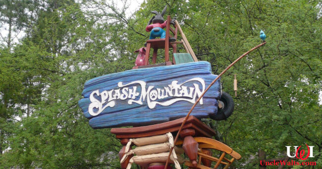 The old Splash Mountain sign. Photo by Michael Gray [CC BY-SA 2.0] via Flickr.