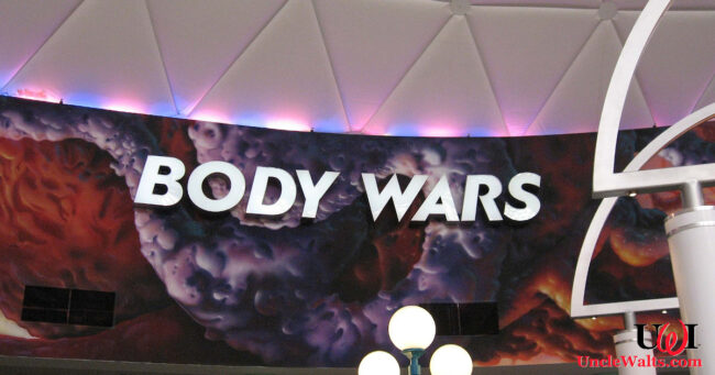 Epcot's new Body Wars: the Covid Mission. Photo by Edward Russell [CC BY 2.0] via Wikimedia.