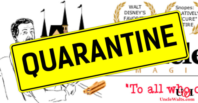 We're already sick... of each other. Quarantine sign [CC0] via Pixabay.