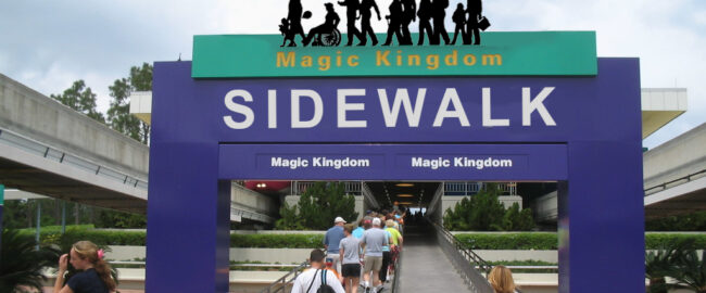 New signage for the Express Sidewalk to the Magic Kingdom. Photo by M. Minderhoud [CC BY-SA 3.0] via Wikimedia.