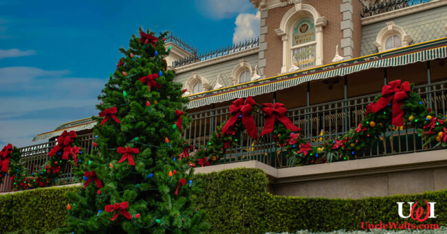 What Walt Disney World used to look like at Christmas time. Stock photo from DepositPhotos.