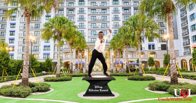 Alphonso Ribeiro statue at Disney's Ribeiro Resort. Photo by Summer Hull/The Points Guy, modified slightly.