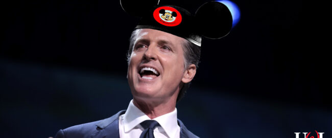 Mickey Mouse governor Gavin Newsom. Photo by Gage Skidmore [CC BY-SA 2.0] via Flickr.