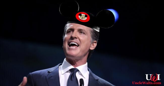 Mickey Mouse governor Gavin Newsom. Photo by Gage Skidmore [CC BY-SA 2.0] via Flickr.