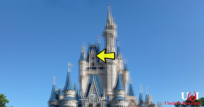 Cinderella Castle, moved two inches to the left. Photo by Flickr user: Michael Gray Wantagh [CC BY-SA 2.0] via Wikimedia.