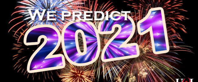 """A pretty graphic which says """"We predict 2021"""" and has the UWI logo. Image [CC0] courtesy Pixabay."""