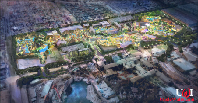 Artist's conception of what Disneyland would look like in the future if it hadn't already moved to Texas! Photo © 2021 Disney.