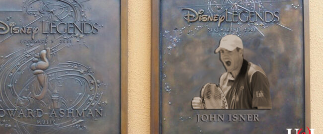 The new plaque honoring former Disney CEO John Isner. Engraving by Tatiana [CC BY-SA 2.0] via Wikimedia.
