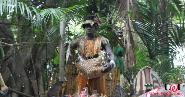 A very obviously non-mask-wearing Trader Sam. Photo by Steven Miller [CC BY 2.0] via Flickr.