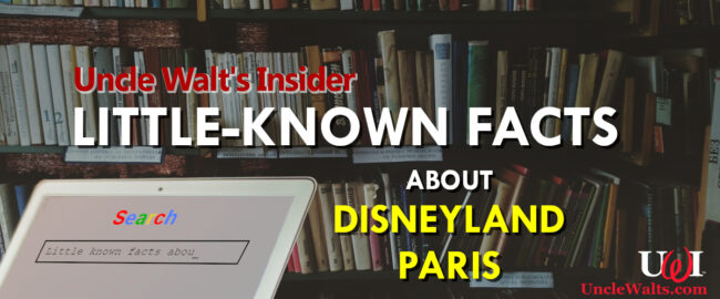 Little-known facts about Disneyland Paris!
