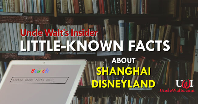 Little-known Facts about Shanghai Disneyland!