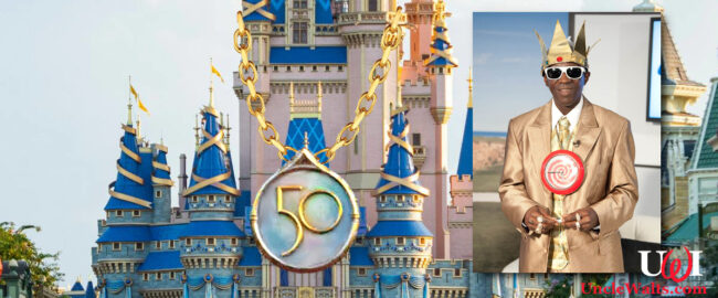 Seriously, what is the connection here? Photo © 2021 Disney; inset photo by Back9Network [CC BY 2.0] via Wikimedia Commons.