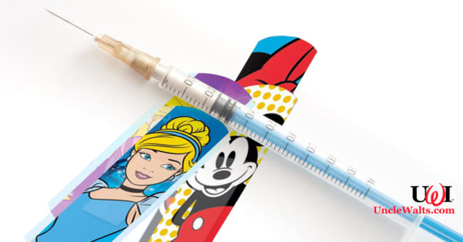 Any risk is totally worth the reduced-price Disney-branded adhesive bandage, right? Photo by freeimageslive.co.uk [CC BY 3.0].
