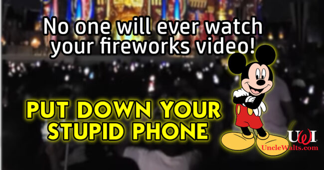 Does anyone ever just watch the fireworks without filming any more? Screen capture from video by John Lindner via YouTube.